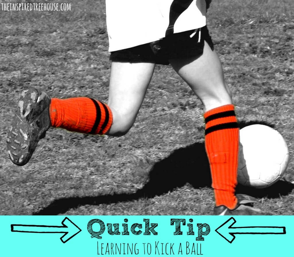 child development quick tip learning to kick a ball