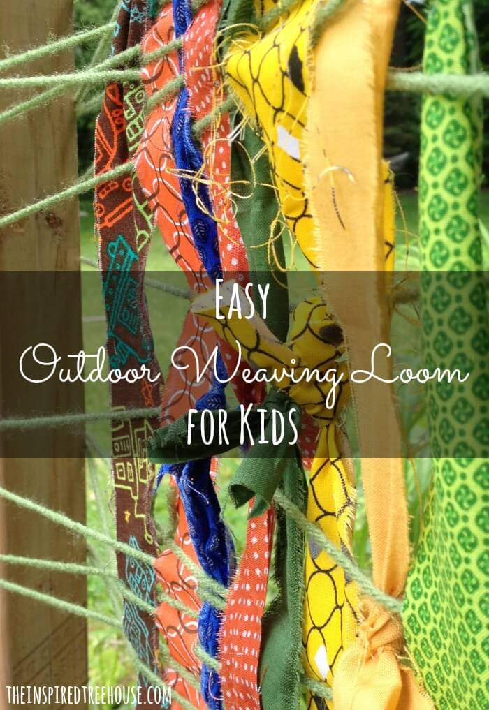 fine motor activities easy outdoor weaving loom1