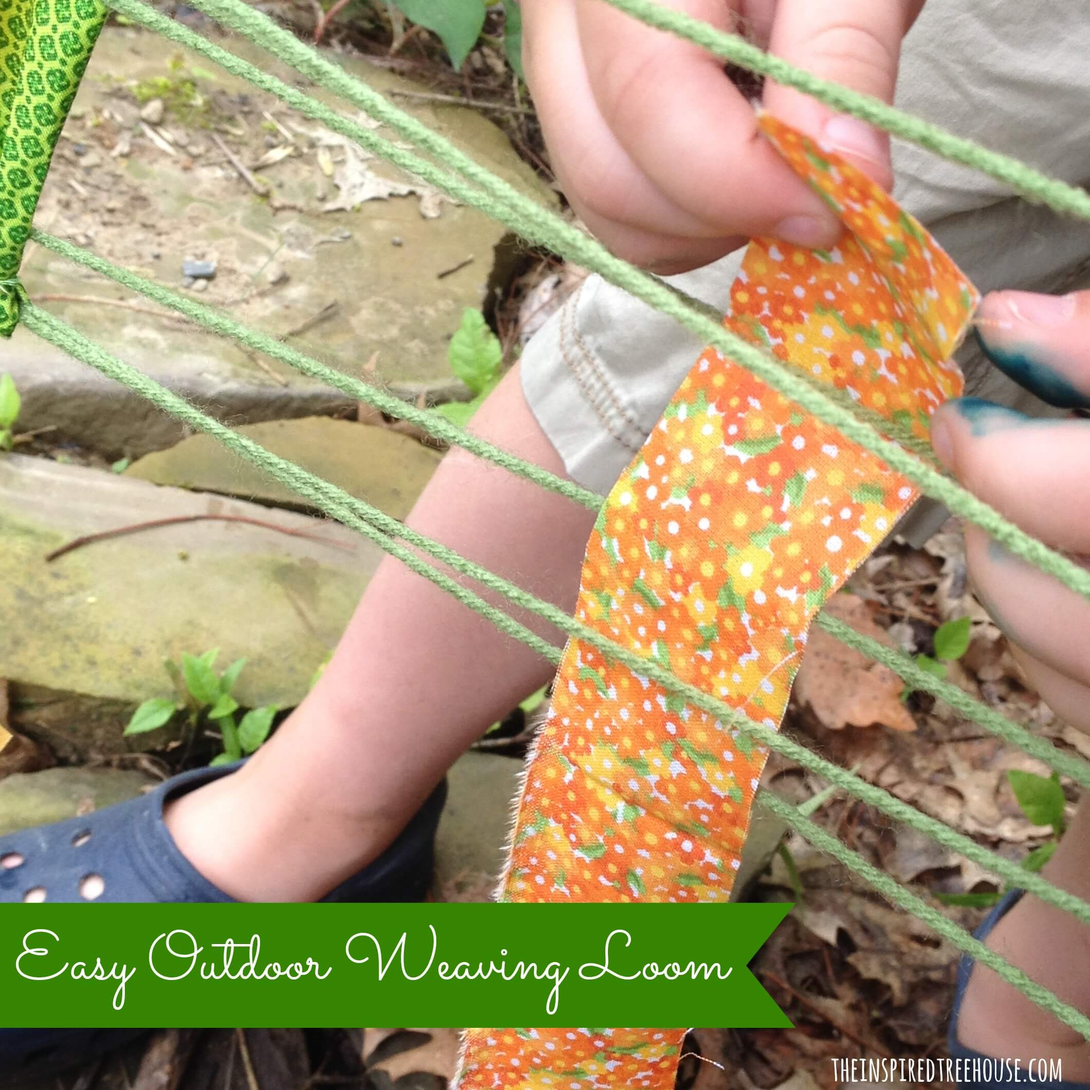 fine motor activities easy outdoor weaving loom2
