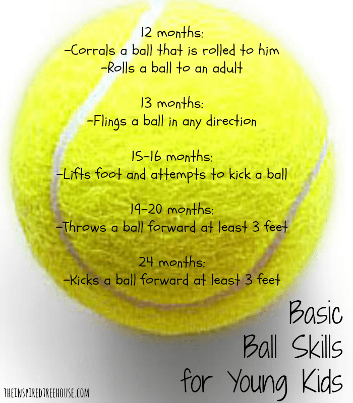 gross motor activities ball skills for young kids graphic