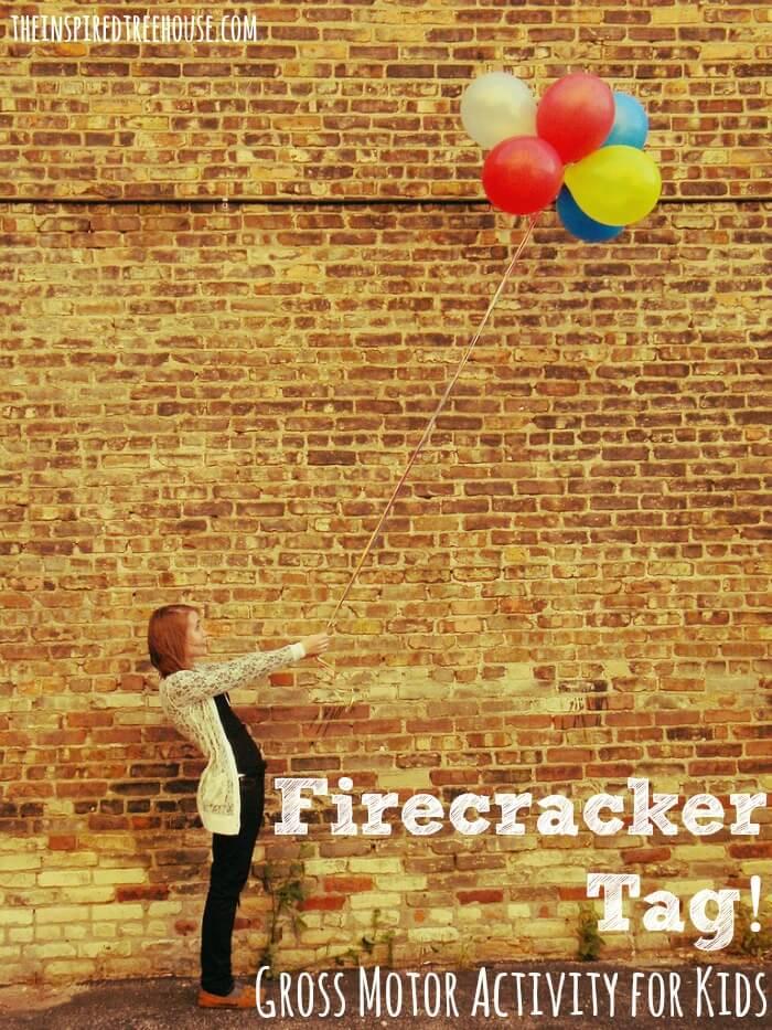 gross motor activities firecracker tag