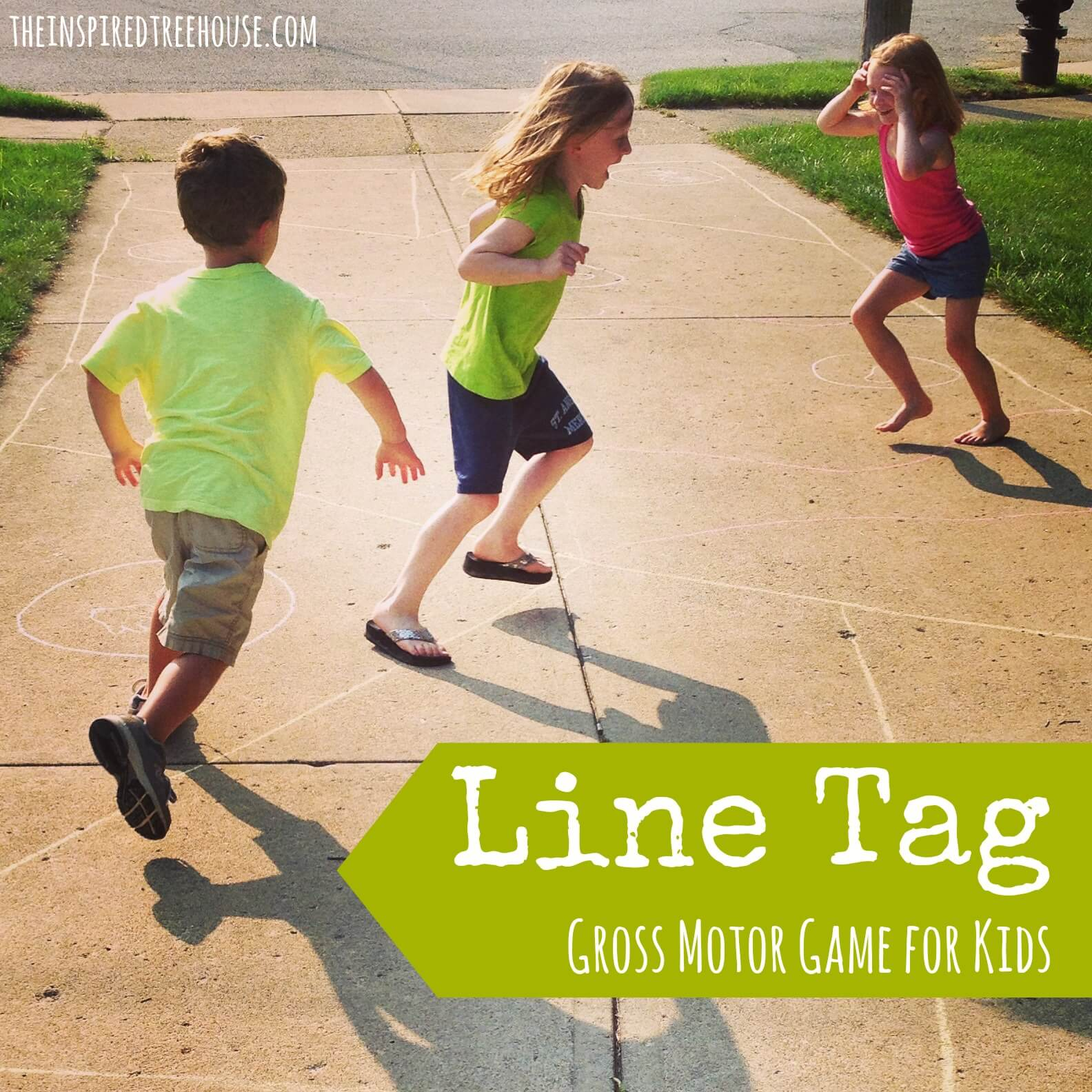 gross motor activities line tag