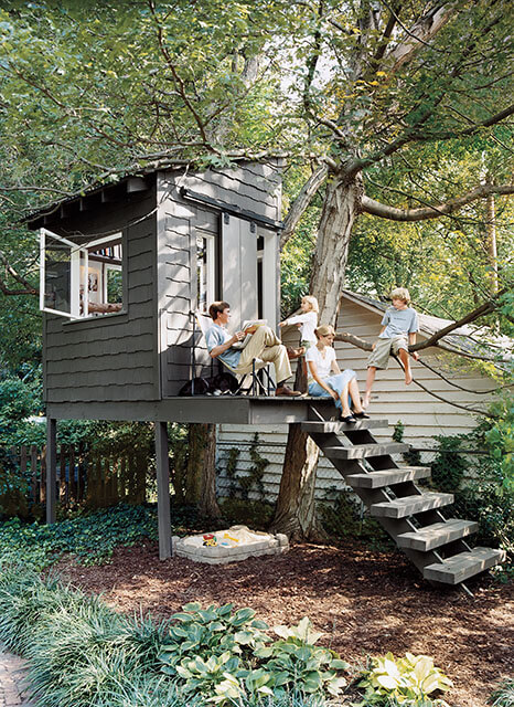 7 inspired fort and treehouse designs for kids the for Awesome playhouse plans