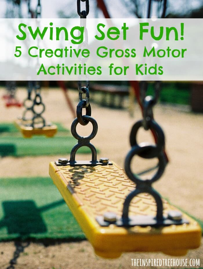 swing set gross motor activities for kids image