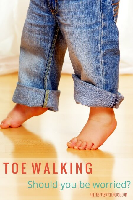 The Inspired Treehouse - Toe Walking, Should You Be Worried? A pediatric physical therapist discusses toe walking, explaining possible causes and treatments.