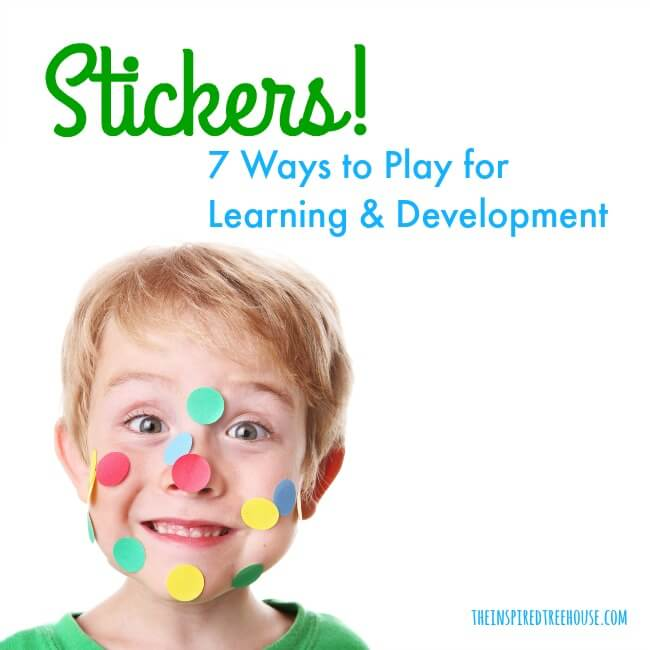 The Inspired Treehouse - Check out some of our favorite sticker activities for kids - all great for building tons of developmental skills!