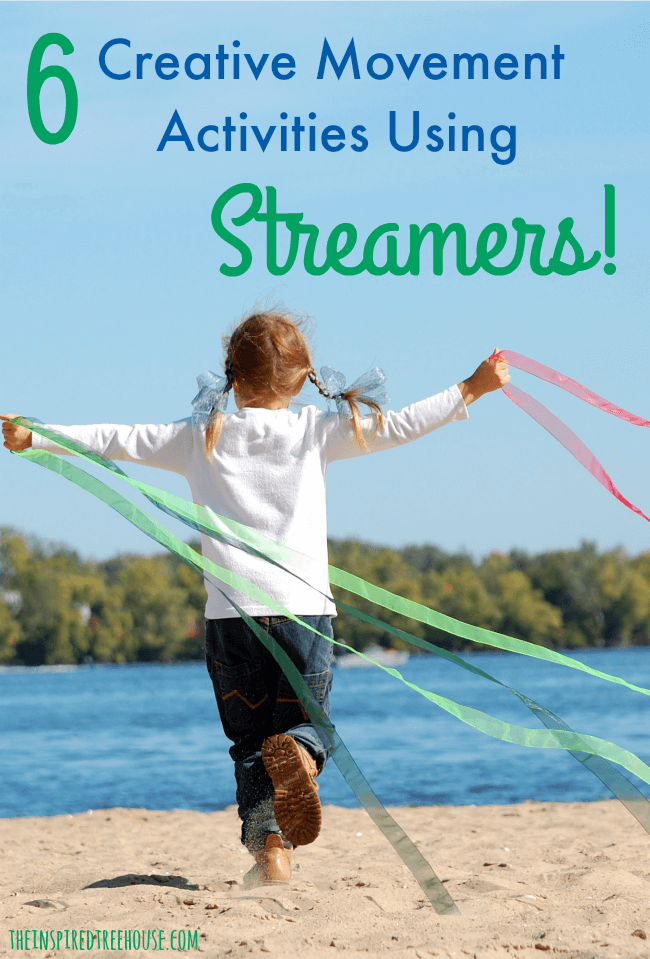 The Inspired Treehouse - 6 activities that encourage strengthening, direction following, spatial awareness & coordination using streamers and fun music for motivation.