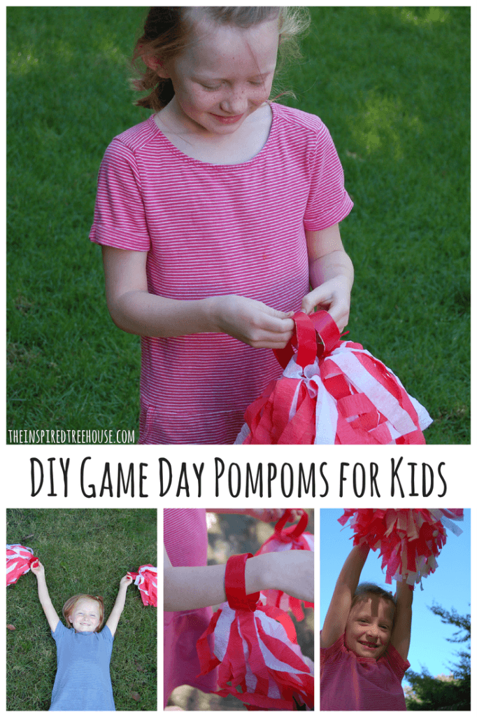 activities for kids DIY Game Day Pompoms for Kids