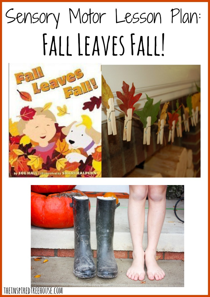 Sensory Motor Lesson Plan Fall Leaves Fall