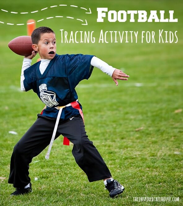fine motor activities football tracing activity for kids