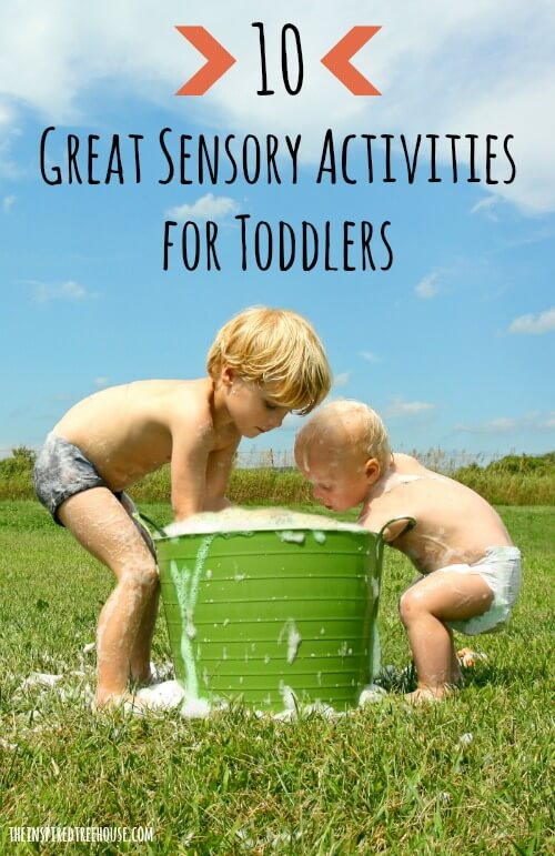 10 great sensory activities for toddlers title