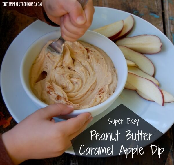 cooking with kids apple dip recipe title
