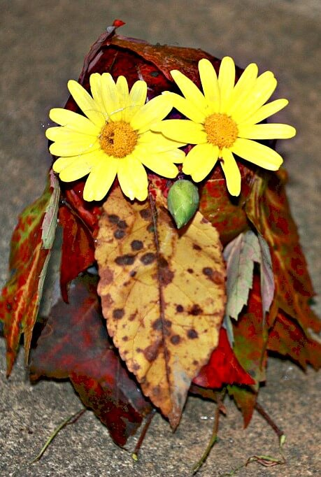 fall crafts for kids leafy owl title image featured