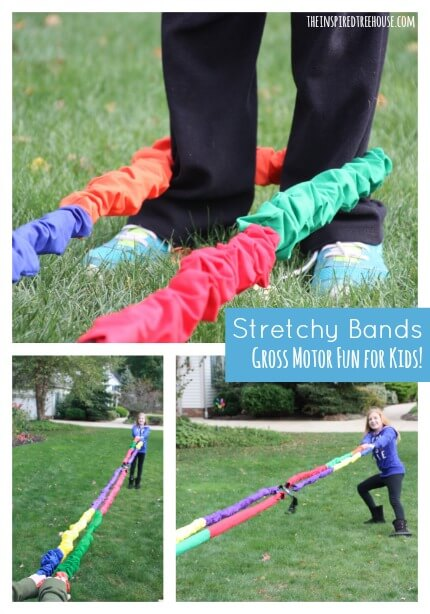 gross motor activities stretchy bands title
