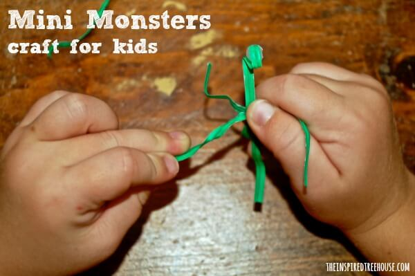 mini monster craft for kids project