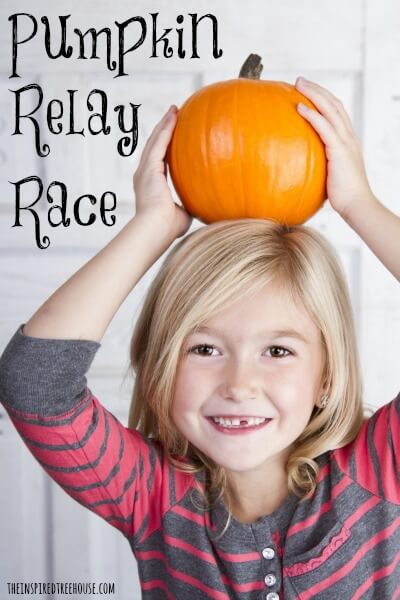 pumpkin relay race for kids