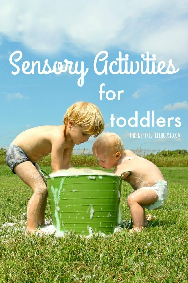 The Inspired Treehouse - These sensory activities for toddlers are great for helping kids explore the world using all of their senses!