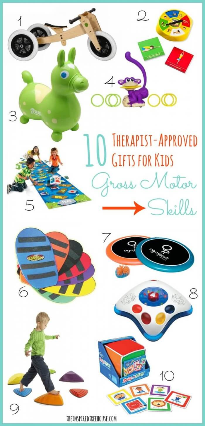 Pictures of gift ideas for gross motor skills