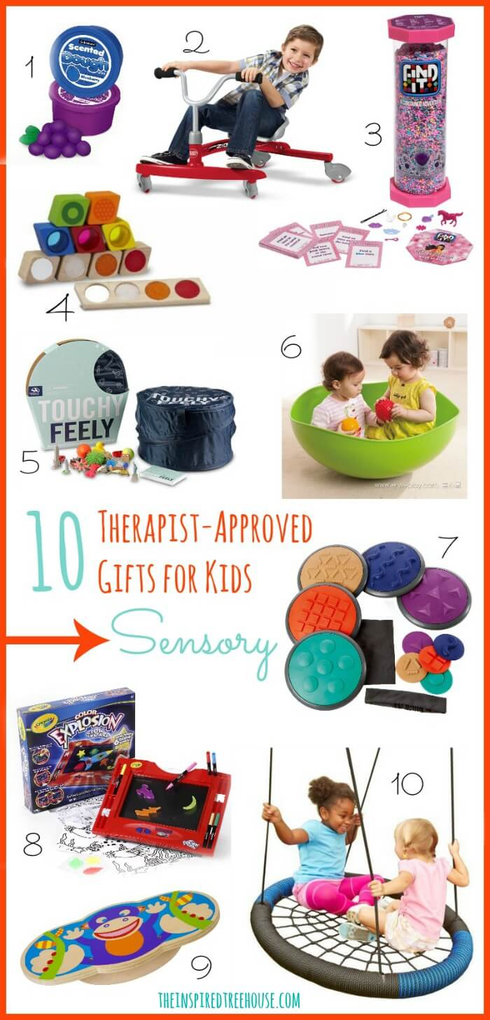 Pictures of gift ideas for sensory processing