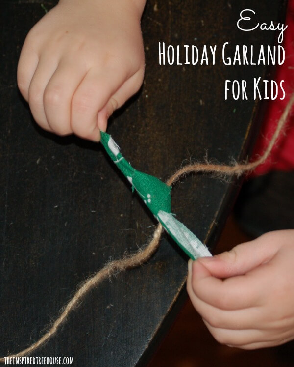 easy crafts for kids holiday garland option2