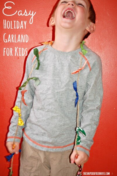 easy crafts for kids holiday garland post FINAL