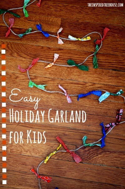 easy crafts for kids holiday garland title