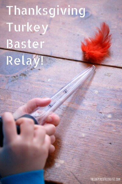 thanksgiving activities for kids Turkey Baster Relay 1