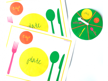 Table Setting Thanksgiving Activity for Kids