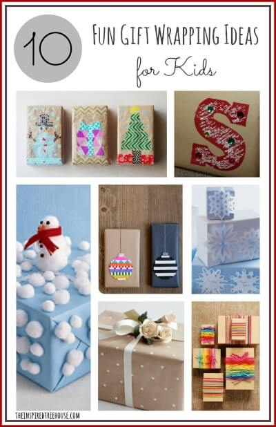 10 fun gift wrapping ideas for kids title