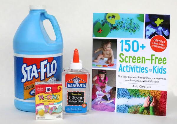 screen free kids activities supplies