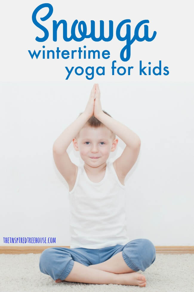 graphic relating to Printable Yoga Poses for Preschoolers titled Snowga: Winter Yoga for Little ones - The Encouraged Treehouse