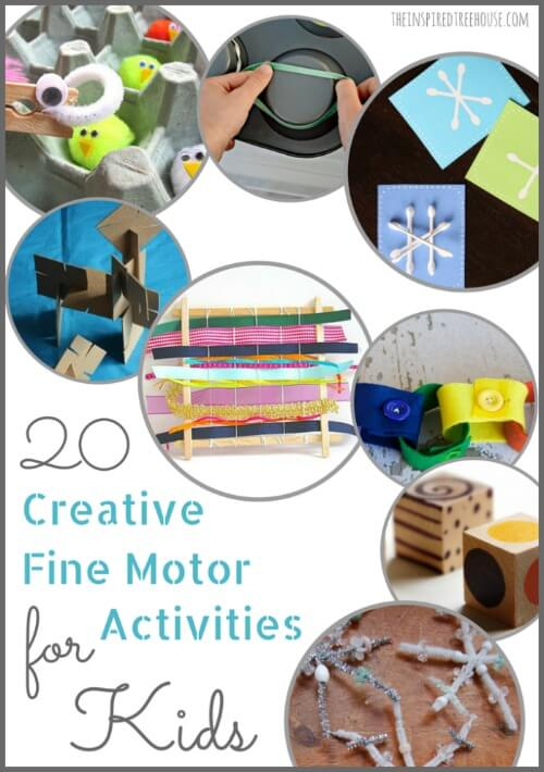 Fine Motor Skills 20 Creative Activities For Kids The Inspired