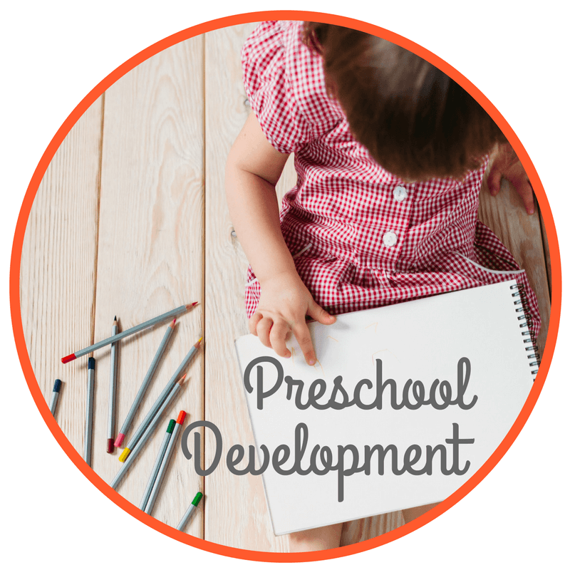 The Inspired Treehouse - Find out more about preschool development and what developmental milestones to expect at this age.