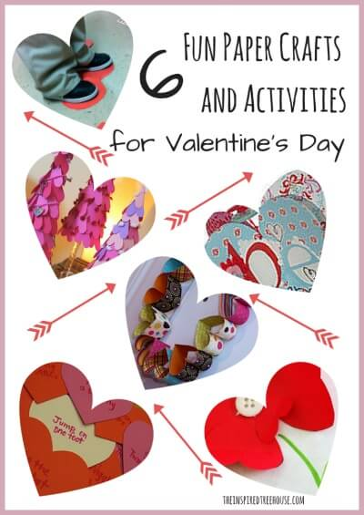 6 Fun Paper Crafts and Activities for valentines title