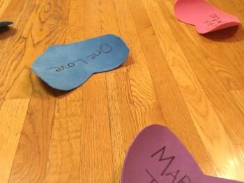 VALENTINES IDEAS FOR KIDS: CONVERSATION HEART JUMP GAME