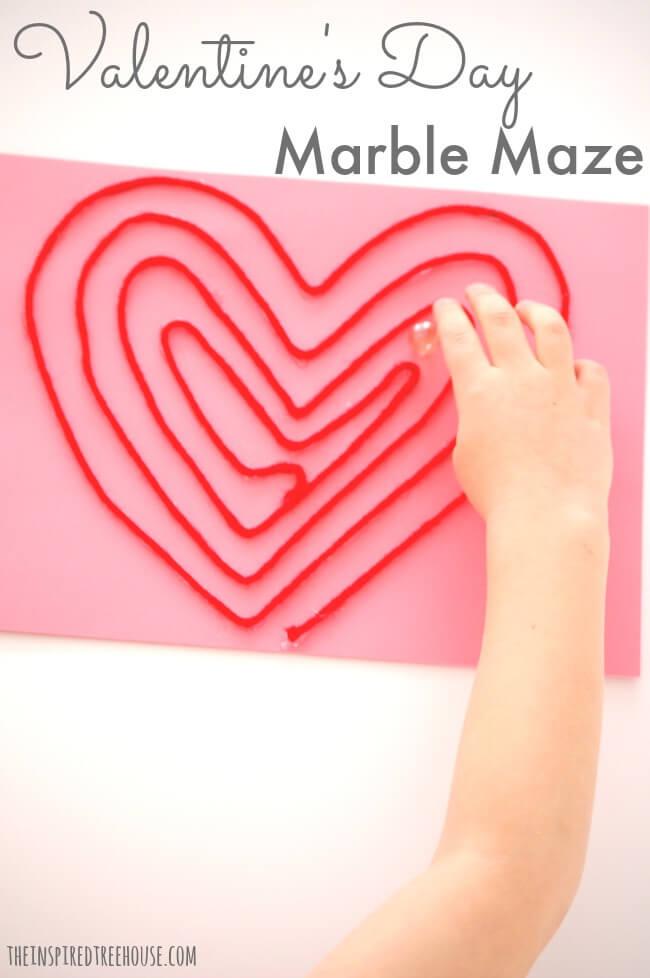 valentine crafts marble maze pin
