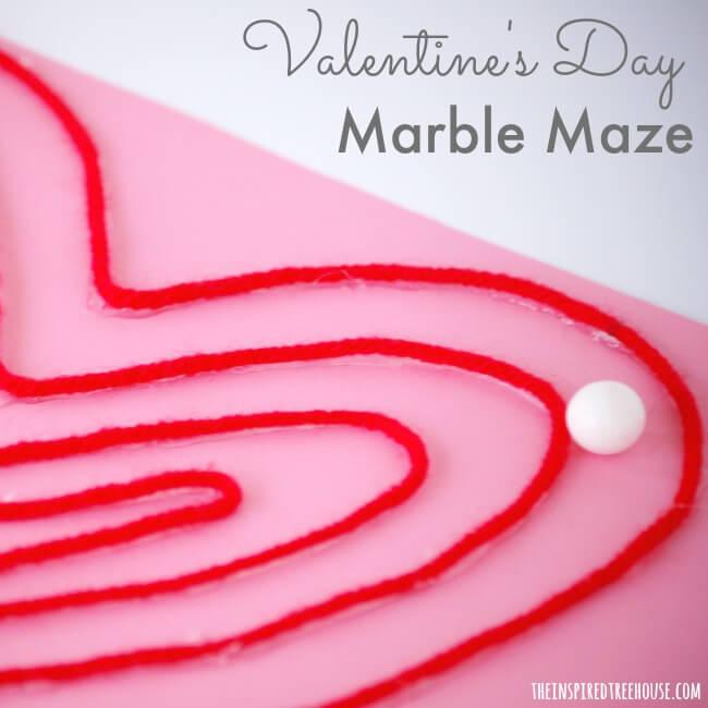 valentine crafts marble maze square