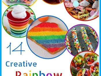 14 creative rainbow snacks for kids featured