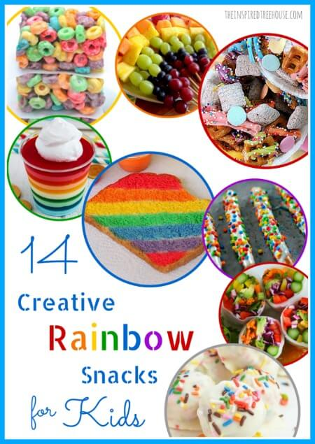 14 creative rainbow snacks for kids title