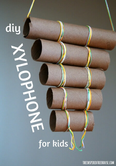 Homemade Instruments For Kids Diy Xylophone The