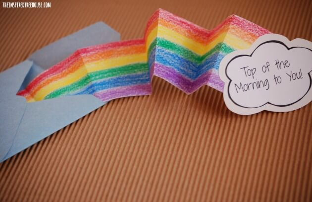 spring crafts for kids rainbow card2