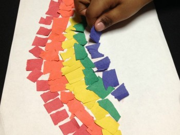 therapy thursday rainbow torn paper crafts for preschoolers
