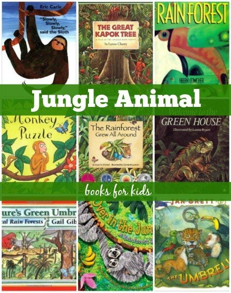 jungle animal yoga books for kids
