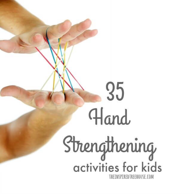 The Inspired Treehouse - Check out some of our favorite fun and creative ways to work on hand strength with kids!