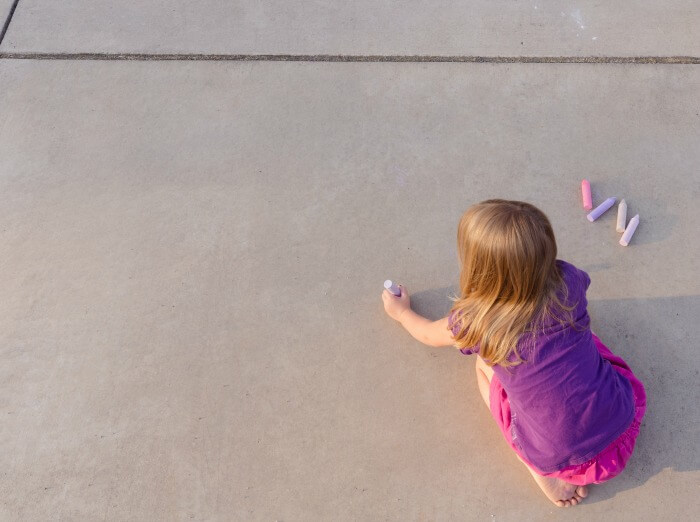 The Inspired Treehouse - Unique ideas for using sidewalk chalk to enhance fine motor skills.