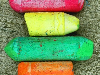 spring activities sidewalk chalk featured