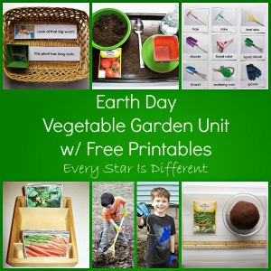 Earth Day Vegetable Garden Unit w Free Printables