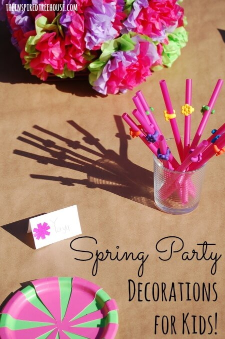 MAKING DIY PARTY DECORATIONS WITH KIDS - The Inspired Treehouse