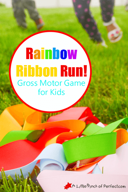 Rainbow Ribbon Run Gross Motor Game for Kids A Little Pinch of Perfect copy