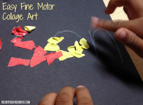 fine motor collage art 2
